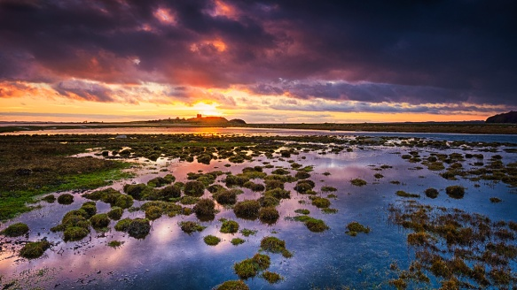 Solnedgang over Kalø Vig