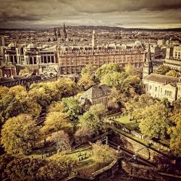 Udsigt mod vest fra Edinburgh Castle